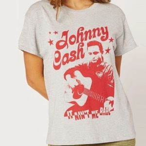 Johnny Cash Short Sleeve Tee Heather Grey Daydream